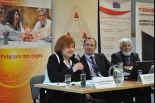 Od lewej: Joanna Strzelec-Łobodzińska, prezes Zarządu Kompanii Węglowej, dr Dariusz Gulczyński, członek Światowej Rady Energetycznej oraz Jerzy Łaskawiec, prezes Sefako