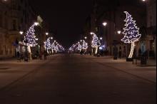 Łódzkie ulice po raz pierwszy rozjaśniły się blaskiem energooszczędnego oświetlenia LED-owego/ Fot. Urząd Miasta Łodzi
