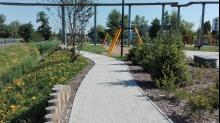 3 x OSTO Ścieżka od południowej strony parku